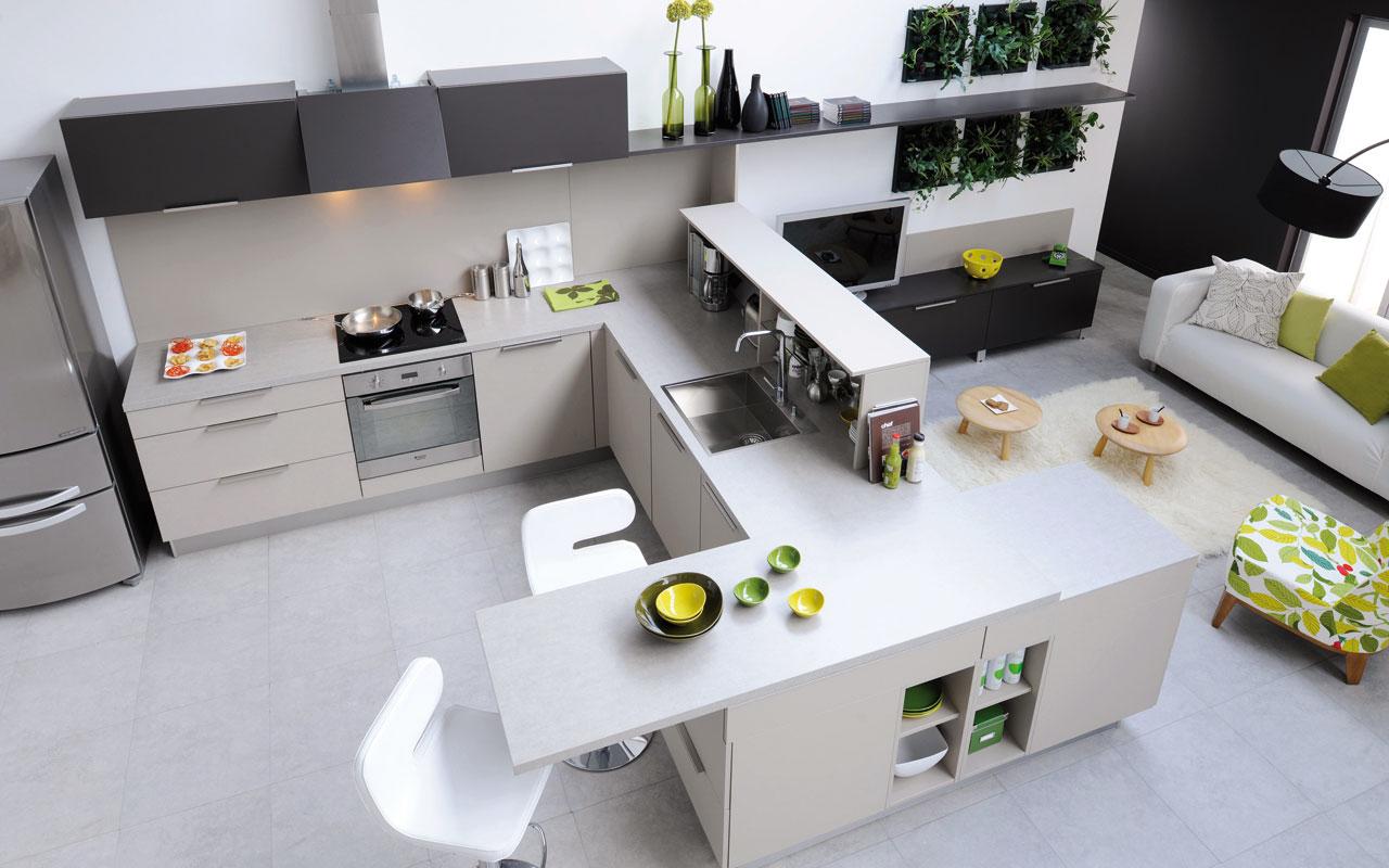 Cuisine cuisinella design par l 39 agence de design c b lefebvre - Cuisine modulable ...