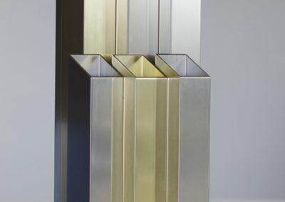 Vase design aluminium Novem