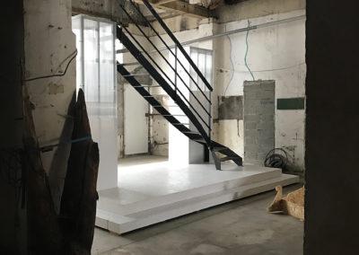 Escalier industriel kit acier construction